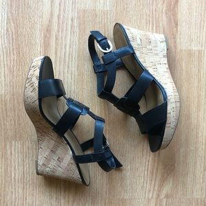 FRANCO SARTO wedges | leather upper 8.5